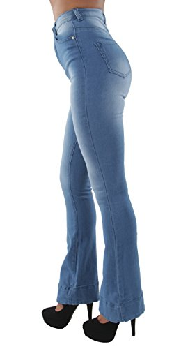 Bottom High Waist Bootcut Fitted Premium Flared Bootleg Jeans in M. Blue Size 9 ()