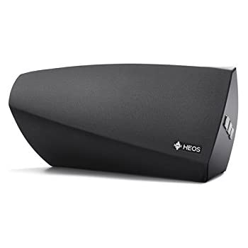 Denon Heos 3 HS2 New Hi-Res Audio, Compact, Portable Wireless Bluetooth Speaker with Amazing Sound (Updated Version), Black, Works with Alexa