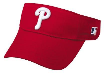 Philadelphia Phillies VISOR Officially Licensed MLB Adjustable Velcro Baseball Cap/Hat Visors by Outdoor Cap