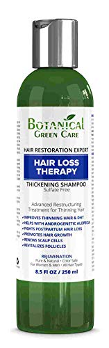 Hair Loss Therapy Sulfate-Free Caffeine Shampoo. Alopecia Prevention and DHT Blocker. Doctor Developed. NEW 2018 FORMULA!