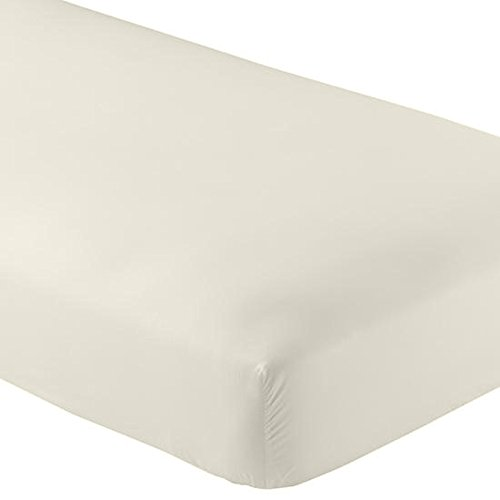 The Luxe Collection Cotton Sateen Fitted Sheet with Smarty-BandZz® King Ivory ()