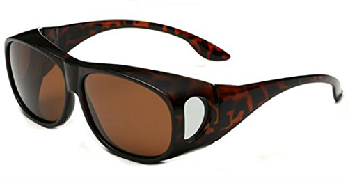My Shades - Polarized Fit Over Sunglasses Wear Over Prescription Glasses Driving Outdoor Activities (Tortoise, - Over Glasses Shades