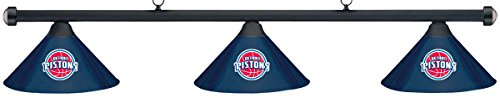 Imperial NBA Detroit Pistons Blue Metal Shade & Black Bar Billiard Pool Table Light