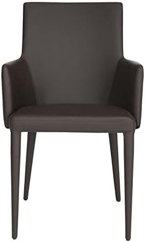 Safavieh Home Collection Summerset Mid-Century Modern Brown Arm Chair