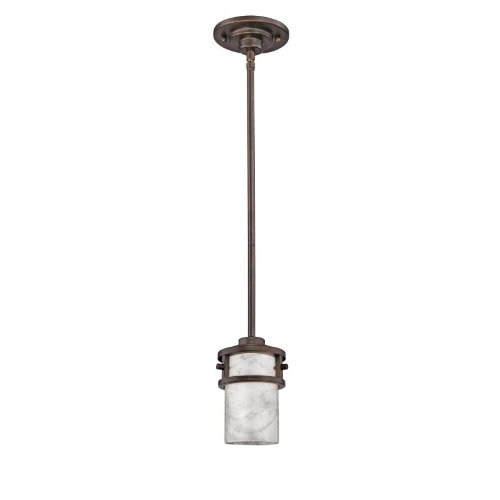 Quoizel KY1508IN, Kyle Mini Onyx Cylinder Pendant, 1 Light, 75 Total Watts, Gate