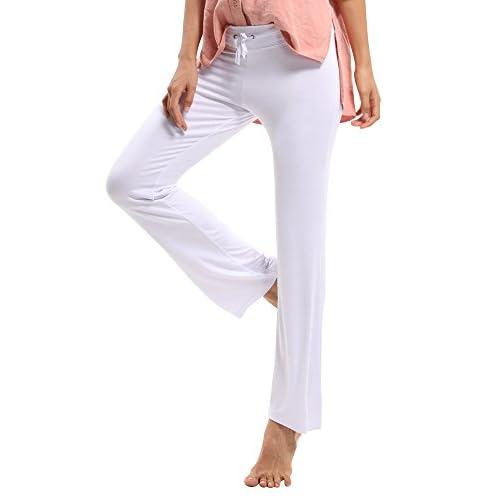 OCHENTA Pantalones sueltos con elasticidad Yoga pants para Mujer 60 ... 2b990fd2bfd0