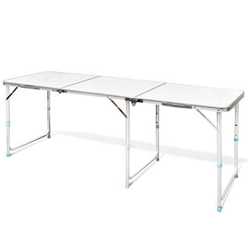 BestHomeFuniture Folding Catering Camping Trestle Picnic Dinner Party Table, 70.9'' by BestHomeFuniture