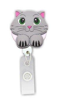 3D Rubber Retractable Badge Holder- CAT