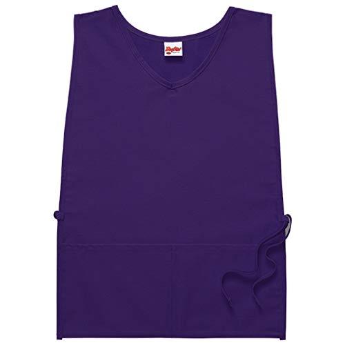 Housekeeping Smock (DayStar Apparel 435 Two Pocket Squared Cobbler w/V-Neck, Purple, Regular)