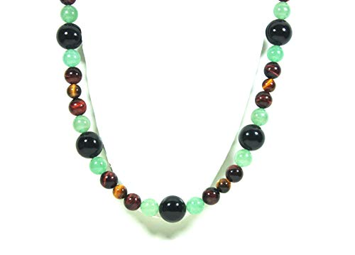 Auras by Osiris - African Necklace for Men - World Class Durability & Magnetic Clasp - Powerful Energy - Confidence - Tribal Necklace Handmade in USA