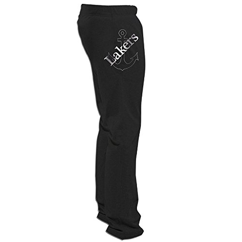 Lake Superior State Lakers Platinum Logo Men's Sweatpants Black (Pampers Large Size Pants)
