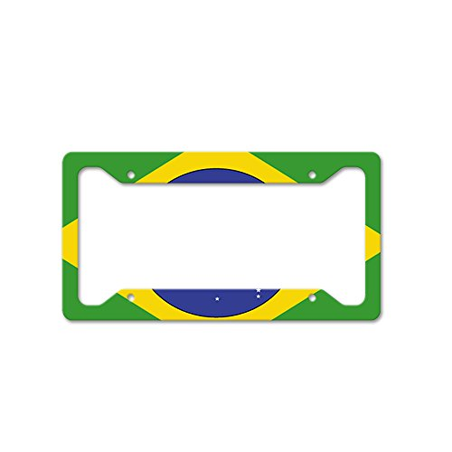 Style in Print Brazil Auto Car License Plate Frame Tag Holder 4 Hole