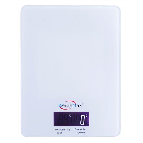 Weighmax GW25 Tempered Glass Digital Mailing and Food Kitche