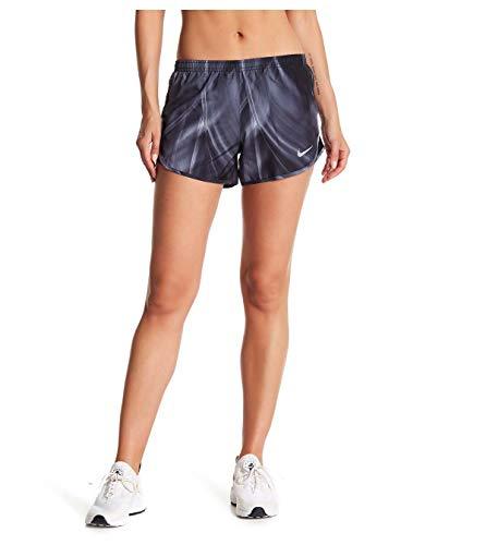 (NIKE Women's Dry Tempo Running Shorts (Grey/Print/Wolf Grey, Medium))