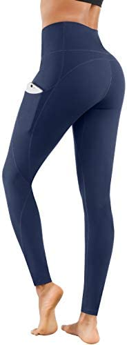 Lingswallow High Waist Yoga Pants – Yoga Pants with Pockets Tummy Control, 4 Ways Stretch Workout Running Yoga Leggings