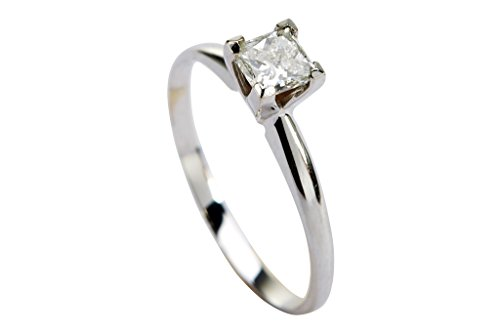 0.39 Ct Princess Diamond - 7