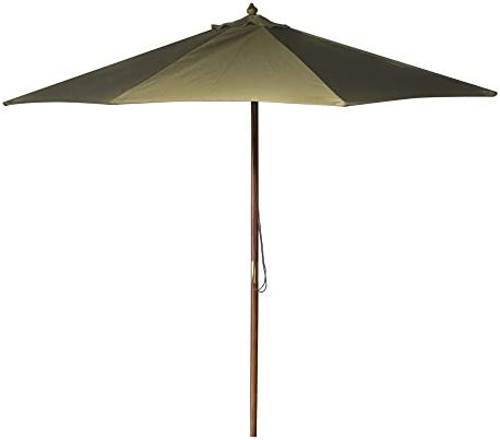 Wooden Market Umbrella