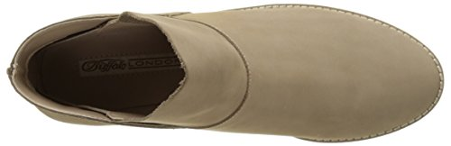 Buffalo London 416-3176 Nubuck Leather, Stivaletti Donna Grigio (Taupe 23)