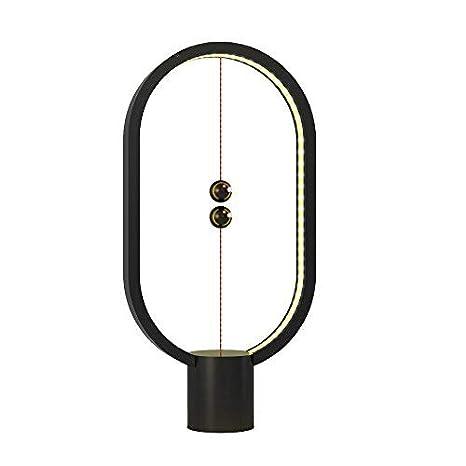Lampada Heng Balance, lampada da tavolo Half-Empty con interruttore magnetico Ellipse con USB, luce notturna per occhi calda BIGWINNER