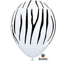 Zebras White Black Stripes - Zebra Stripes Black White 11' Latex Jungle Animal Zoo Safari Birthday Party (10 Count)