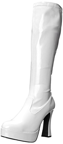 Ellie Shoes Women's Chacha Boot, White Patent, 6 M US -