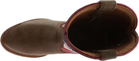 Twisted X Ungdom Cowkid Vfw Usa Arbete Boot Bombplan / Röd / Vit / Blå Läder