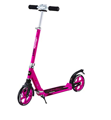 Cheap New Bounce Foldable GoScoot Ultimate, 2 Wheel Kick Scooter for Kids Portable Outdoor Toy with Adjustable Height for Children and Teens|Deluxe Design for Girls & Boys in Pink, Blue and Black (Pink)