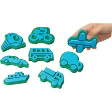 Jumbo Ink Transportation Stampers (Chunky Stamp Foam)