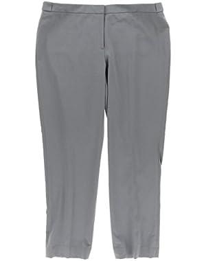 Calvin Klein Womens Petites Highline Taper Leg Flat Front Ankle Pants