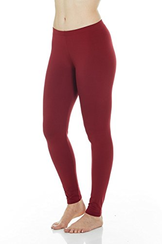 Thermajane Women's Ultra Soft Thermal Pants Bottoms (Red, Medium)