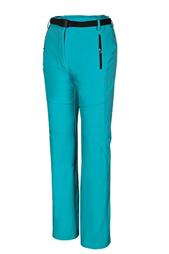 Spvoltereta Outdoor Thick Warm Women Straight Leg Pants Quick Dry Waterproof & Windproof with Fleece Liner for Hiking Trekking Snowmobiling Skiing (Medium, PEACOCK (136 Peacock)