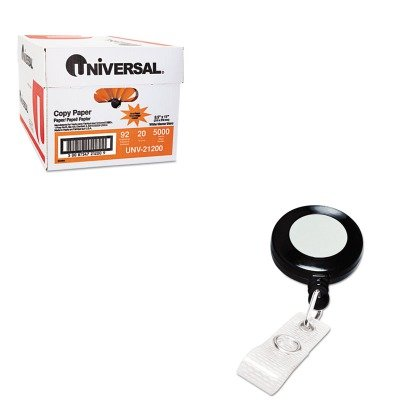 KITGBC3748022UNV21200 - Value Kit - GBC Retractable Name Badge Reel w/Clip (GBC3748022) and Universal Copy Paper (UNV21200) (Gbc Retractable Name Badge)