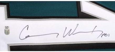 best service 8b6de b02c1 Amazon.com: CARSON WENTZ Autographed Philadelphia Eagles ...