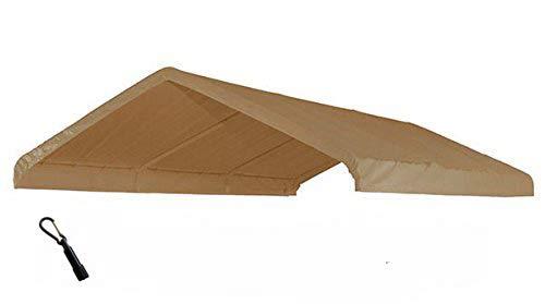 - 10X20 Heavy Duty Waterproof Beige Valance Canopy Cover