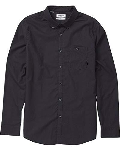 - Billabong Men's All Day Oxford Long Sleeve Shirt, Black, XL