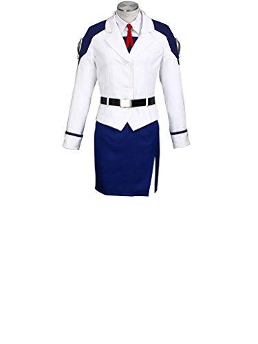Nanoha Cosplay Costume (Mtxc Women's Magical Girl Lyrical Nanoha Cosplay Costume Nanoha Takamachi 1st Size XXX-Large White)