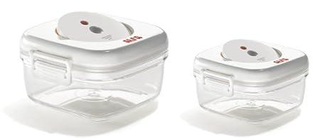 Alfa Lunch 7952 - Recipientes de vacío Cuadrados, Libres de BPA ...