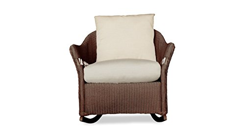 Lloyd Flanders 72233-070-928 Freeport Collection Lounge Rocker in Chocolate Loom Finish, Canvas Spa (Lloyd Furniture Patio)