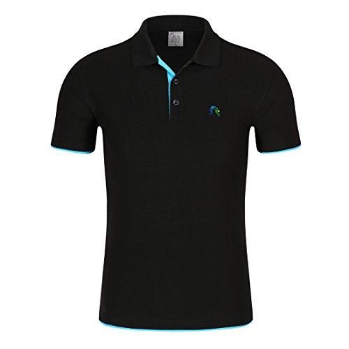 Colorful Single Color Lapel T-shirt-BBE-XXL (Bbe Single)