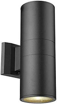 MICSIU LED Aluminum Wall Mount Light Outdoor Indoor Wall Sconce, ADA Compliant. UL Listed. Textured Black Up Down Light