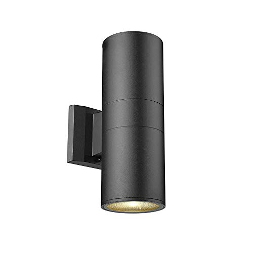 MICSIU Outdoor Wall Light Fixture Up/Down Wall Lamp Modern Aluminum Wall Sconce for Outdoor/Indoor Use, Textured Black