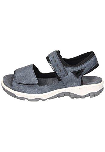 Rieker Damen Sandalette Blau