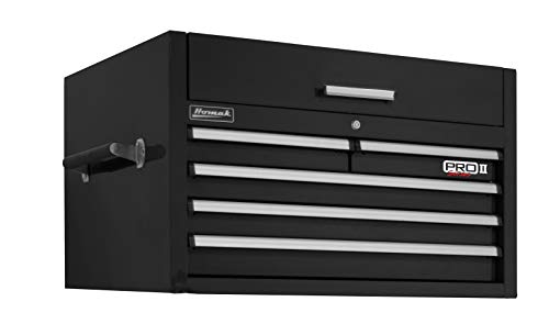 "Homak PRO II Series 36"" 5-Drawer Top Chest, Black, BK02036052"
