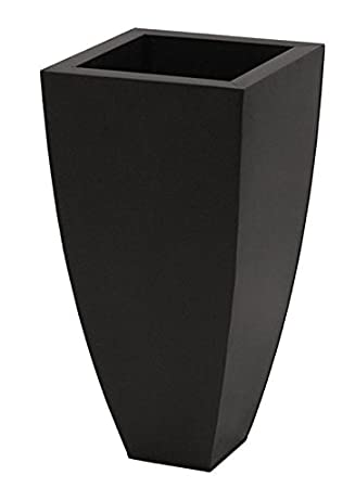 Zinc Planter Gunmetal Black Tapered Cubes Small A Amazon Co