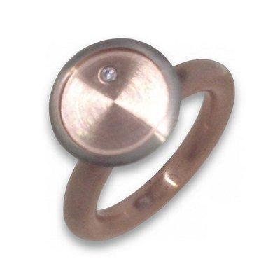 Bague 56-Oxyde de zirconium-Argent/Gold