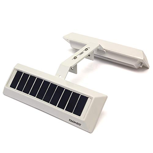Touch Of ECO LITEAGENT - Solar Dual Sided LED Post Light for Real Estate Signs, Business, Yard Sign Lighting - Includes Adjustable Sign Mounting Bracket (On Powered Solar Clip Lights)