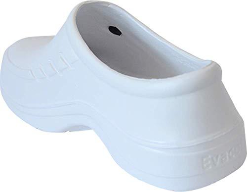 c0b3f70217464 Evacol Unisex Nursing Clogs Ultralite Nurse Shoes unifororm Professional  Work Clogs for Health Care Hospitals and Restaurant (42, White)