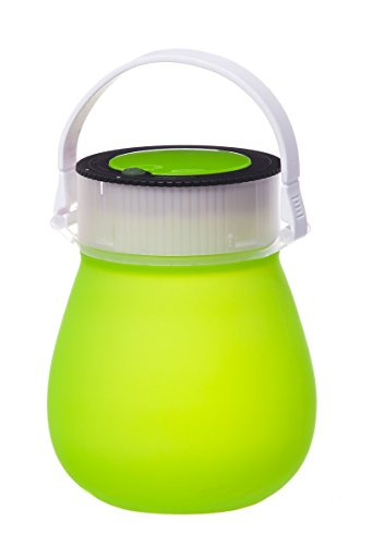 Evergreen Garden Firefly Green Bell-Shaped Indestructible Silicone Battery Powered Outdoor Camping and Hiking LED Lantern with Water-Tight Twist Top