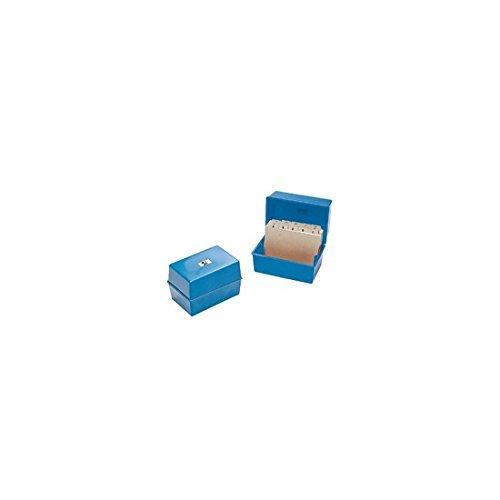 Q Connect 5x3 inch Card Index Box - Blue KF10002