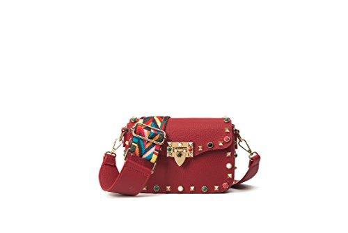 couleur couleur épaule Sacs à Sacs messager Design Femme bandoulière B Rivet Noir de Bracelet 1qaxPwR